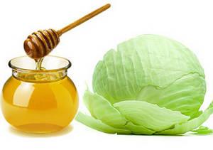 Капустный лист и мед