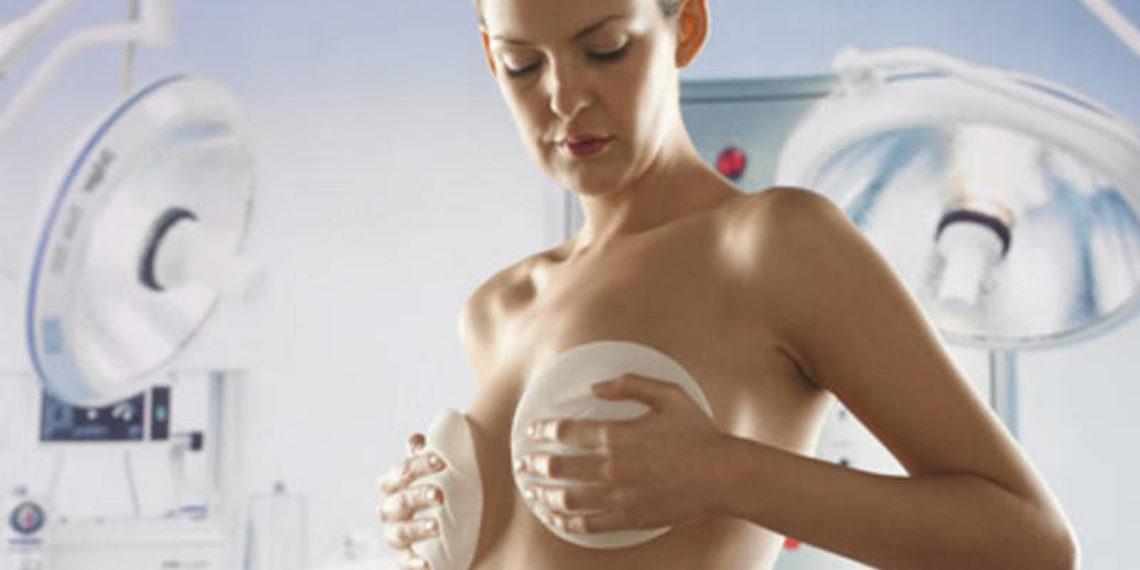 Молочные железы до и после маммопластики